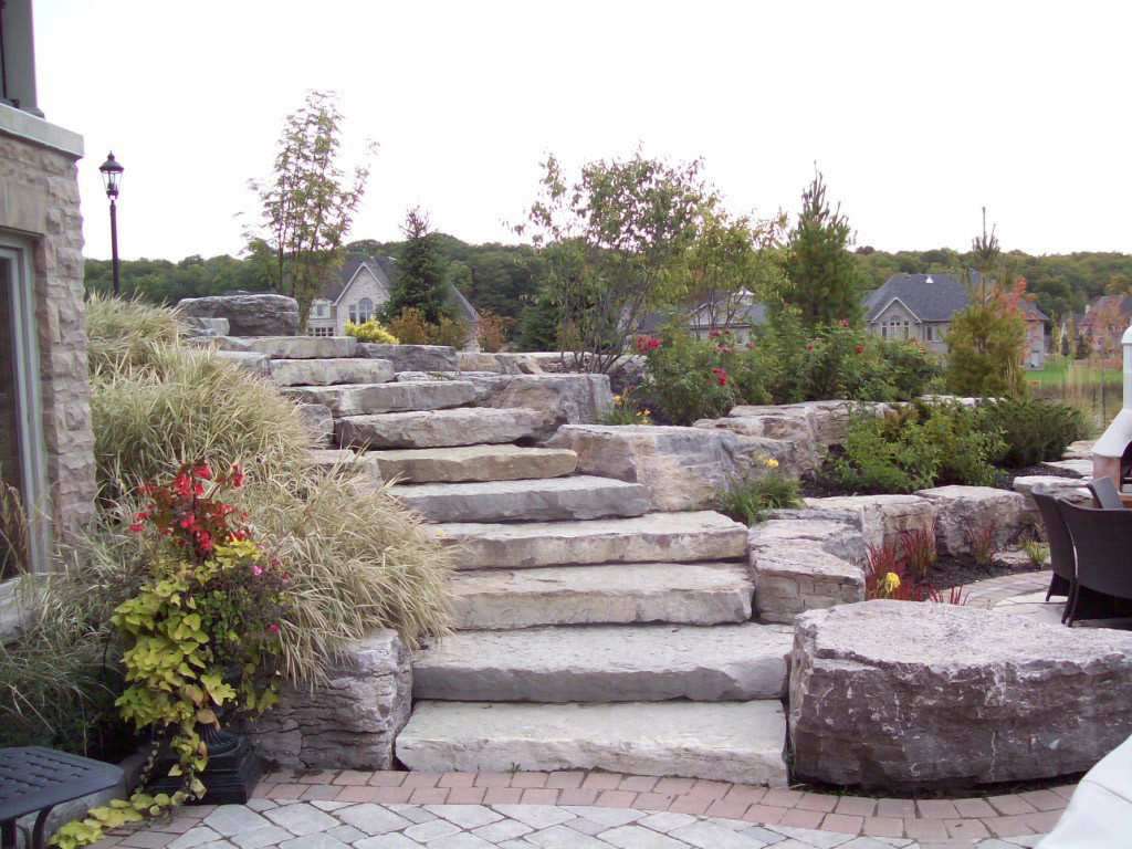 Natural Stone Steps : Stone steps river s edge