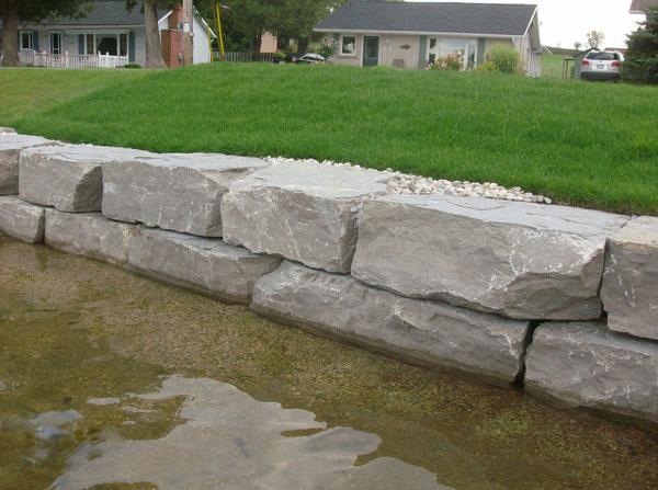 Shoreline Armour Stone Retaining Wall